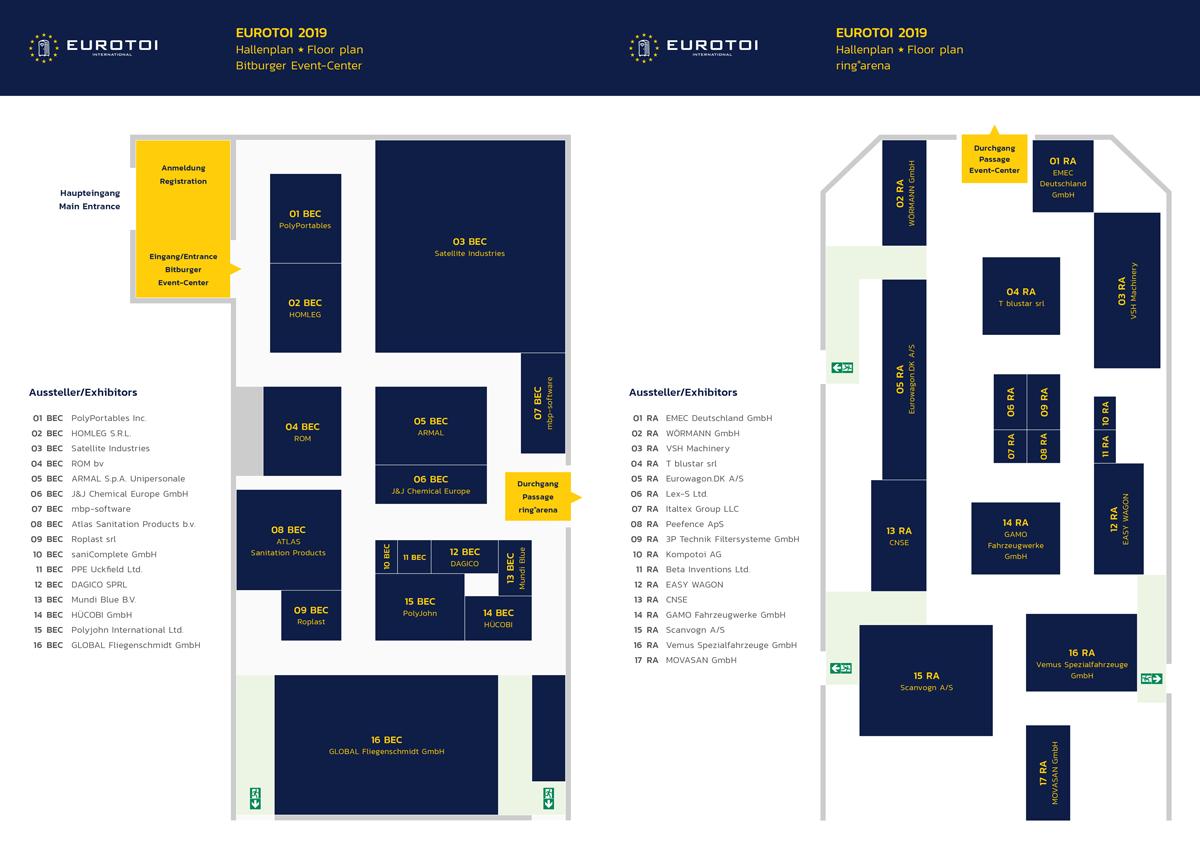 Floor Plans EUROTOI 2019