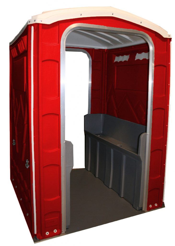 PolyPortables Red Urinal Unit